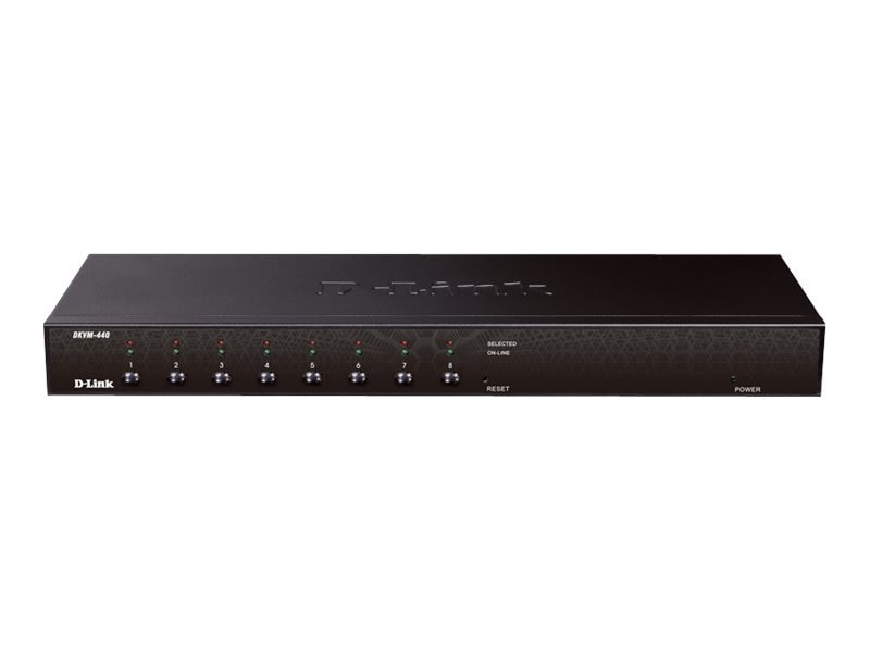 D-Link KVM PS2 USB Switch, 8-Port, KVM-440, 13122613, KVM Switches