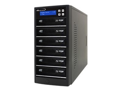 Vinpower ECON Blu-ray DVD CD 1:6 Tower Duplicator w  Hard Drive, ECON-S6T-BD-BK