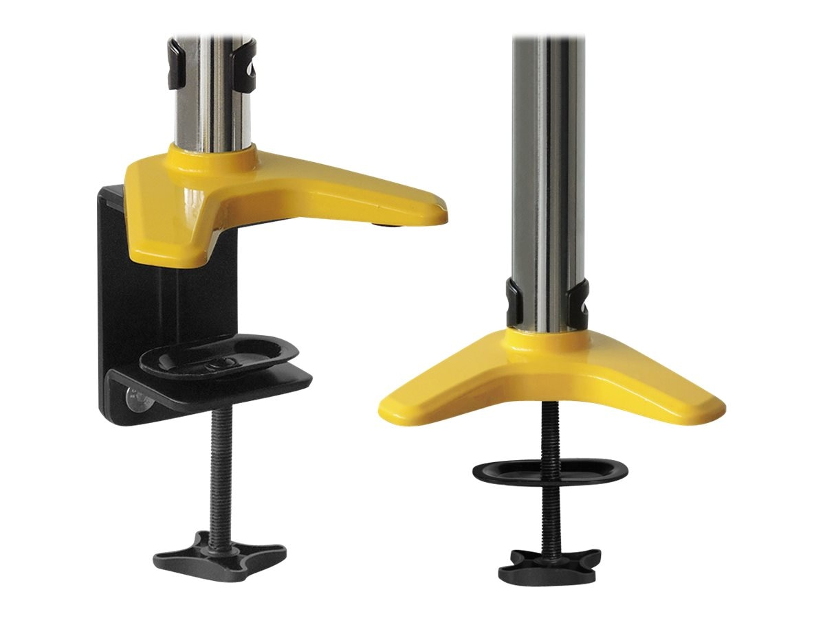 Siig Full-Motion Easy Access Single Monitor Desk Mount, Yellow, CE-MT1L12-S1