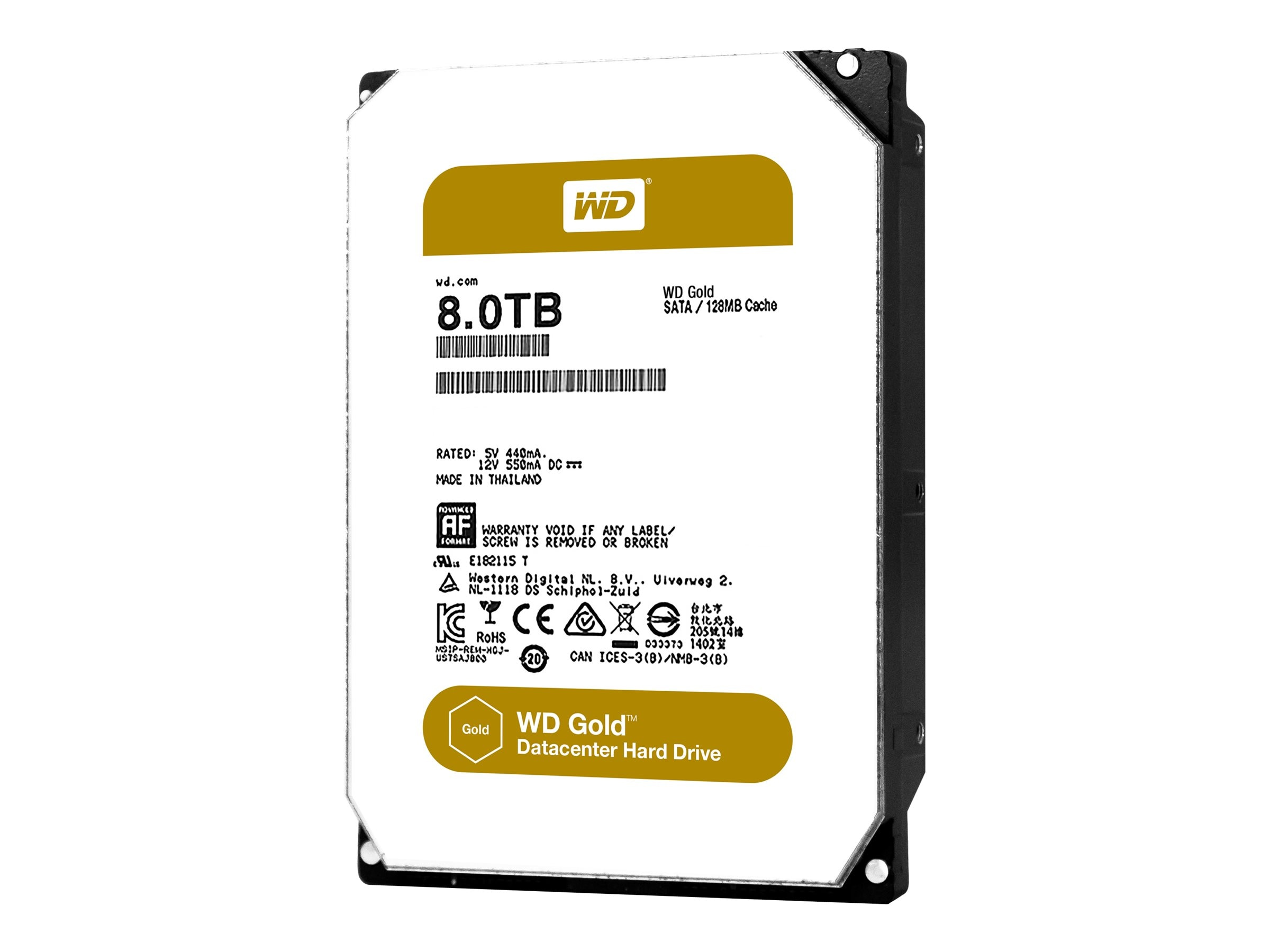 WD 8TB WD Gold SATA 6Gb s 3.5 Datacenter Hard Drive