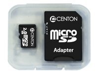 Centon Electronics 2GB microSD Memory Card, 2GBRSD, 8510591, Memory - Flash