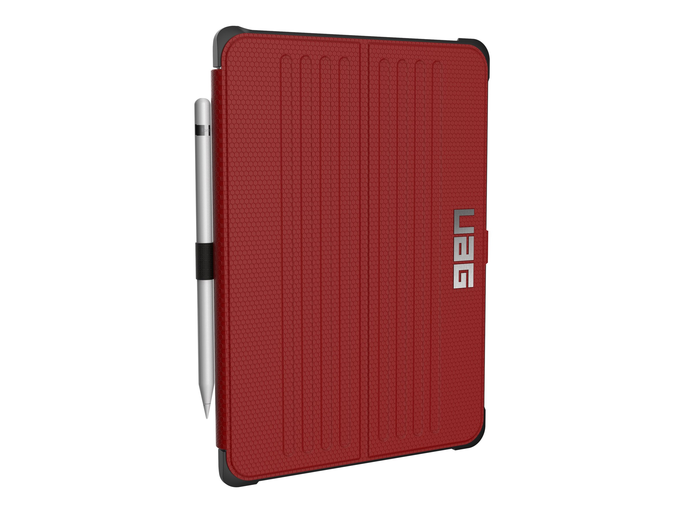 Urban Armor Folio Case, Visual Packaging for iPad Air 3, Red Black