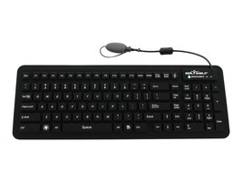 Seal Shield Seal Glow Silicone LED Backlit Keyboard, Dishwasher Safe Antimicrobial, S106G2, 11745614, Keyboards & Keypads