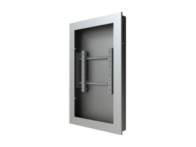 Peerless In-Wall Kiosk Enclosure, Silver, for 40 Displays up to 2.25 Thick