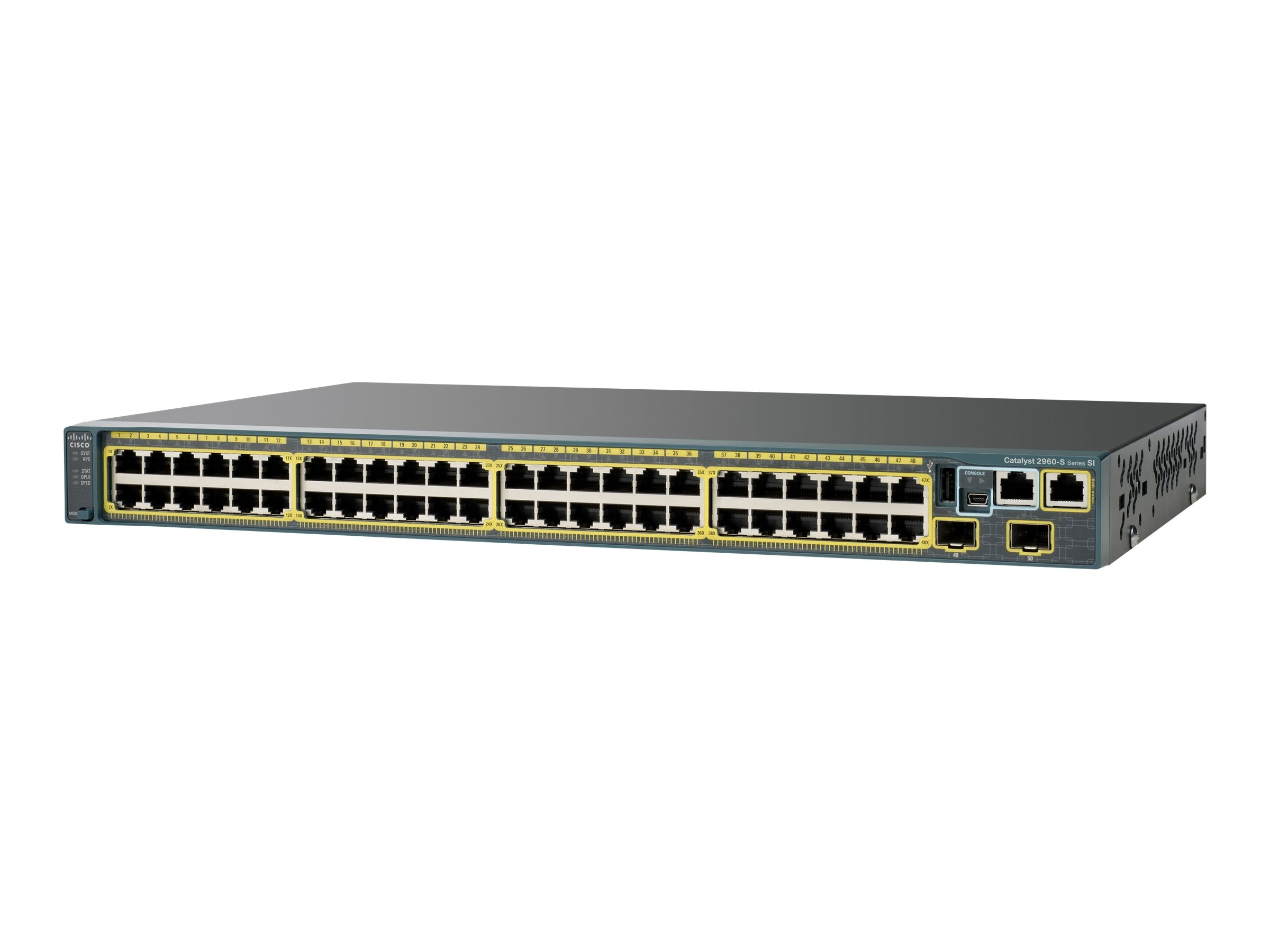 Open Box Cisco Catalyst 2960S Stack 48 GIGE-4 X SFP LAN Base, WS-C2960S-48TS-L, 12906782, Network Switches