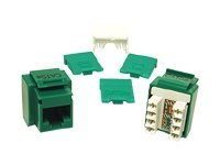 C2G Cat5e RJ45 Keystone Jack, Green, 03797, 7515331, Premise Wiring Equipment