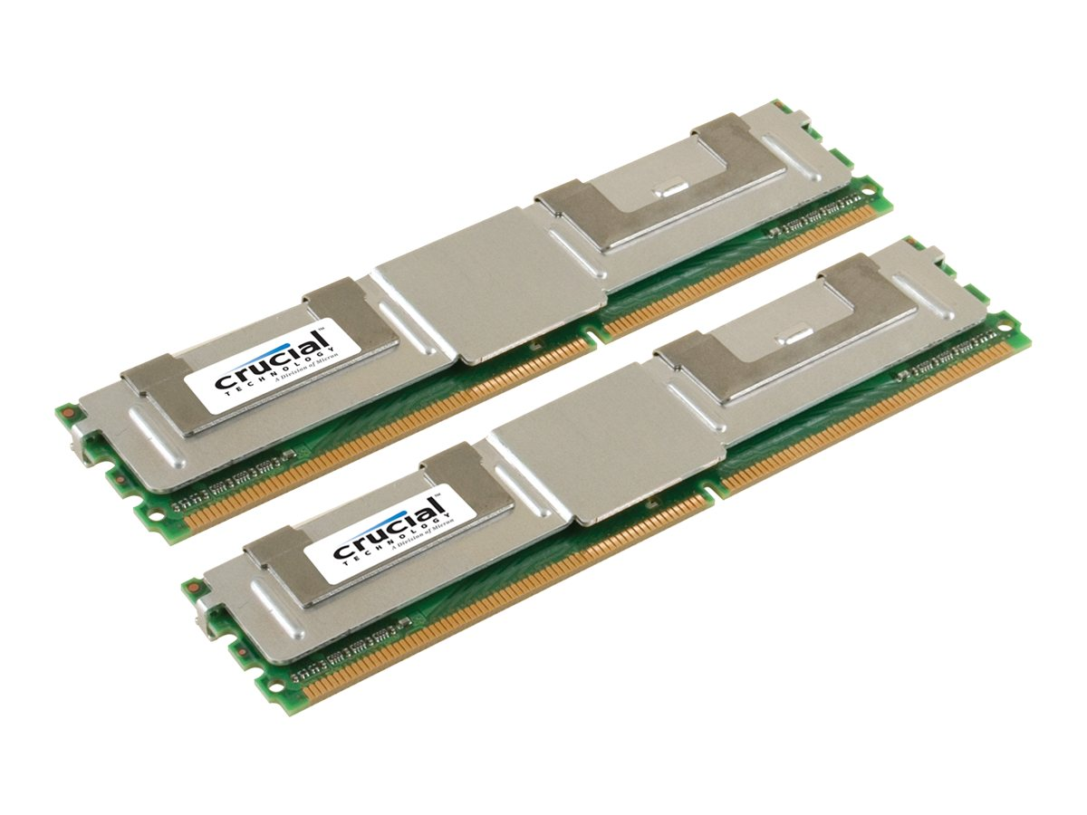 Crucial 16GB PC2-5300 240-pin DDR2 SDRAM DIMM Kit, CT2KIT102472AF667, 10105041, Memory