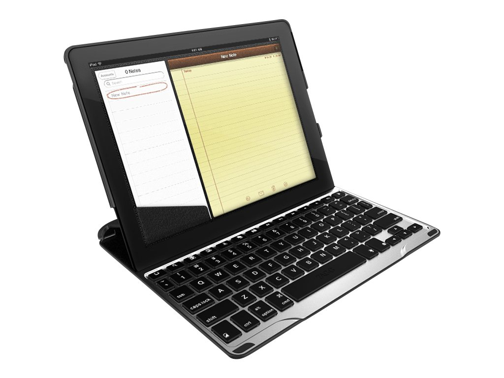 Zagg Zaggkeys Profolio w  Keyboard for Apple iPad 2 3 4, Silver, FOLPROSLV101, 31198671, Keyboards & Keypads