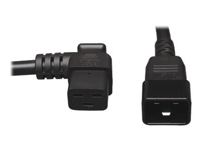 Tripp Lite Power Cord, 12AWG Heavy Duty, C19 Left-angle to C20, 2ft, P036-002-19LA, 11557365, Power Cords