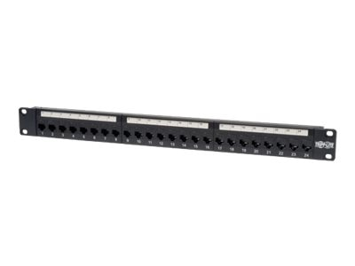 Tripp Lite 24-Port Cat6 Feed-Through Patch Panel, N254-024, 7062095, Patch Panels