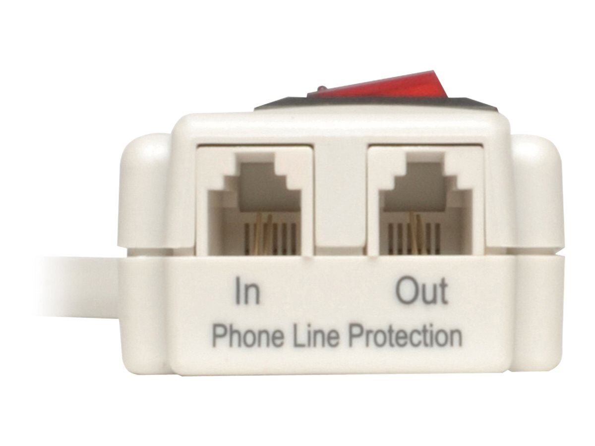 Tripp Lite Protect It! Surge (6) Outlet (3 Transformers) 4ft Cord 790 Joules, TLP604TEL
