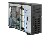 Supermicro SuperChassis 745TQ-R920B, Tower 4U, EATX, 8x3.5 SAS SATA, 920W RPS, Black, CSE-745TQ-R920B, 12641008, Cases - Systems/Servers