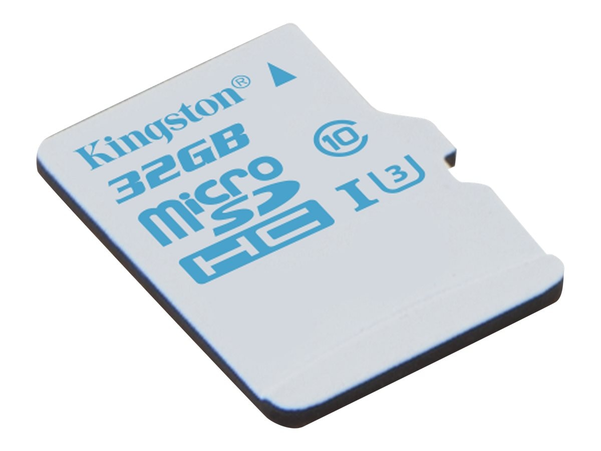 Kingston 32GB microSDHC UHS-I U3 Flash Memory Card, Class 10