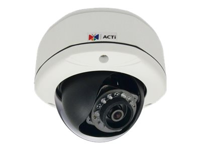Acti 3MP Outdoor Dome with D N, Adaptive IR, Superior WDR, Fixed Lens, E74A