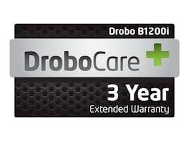 3-year 24x7 Digital DroboCare Support w Next Business Day Advanced Replacement for B1200I, DR-B1200I-1D11, 15183209, Services - Virtual - Hardware Warranty