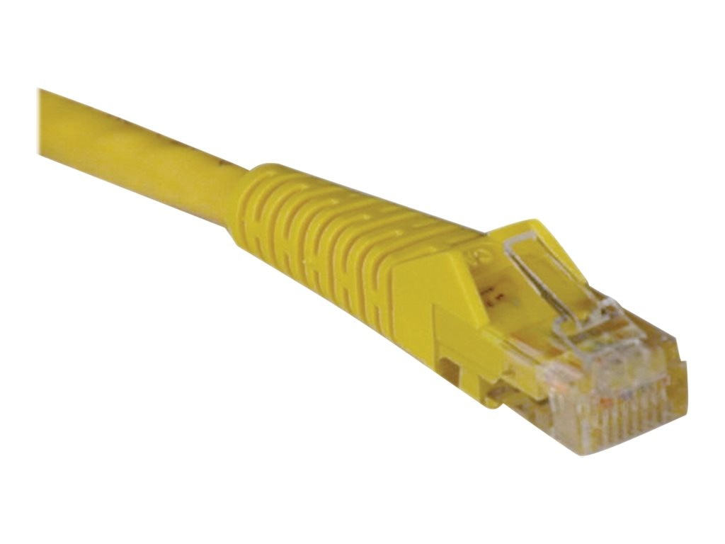Tripp Lite Cat6 UTP Gigabit Ethernet Patch Cable, Yellow, Snagless, 3ft