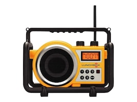 Sangean LunchBox Ultra Rugged Radio, LB-100-YELLOW, 10983872, Stereo Components