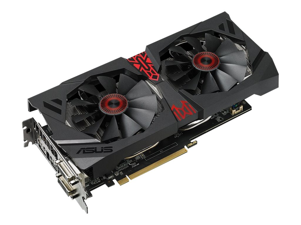 Asus Radeon AMD R9 380X PCIe 3.0 Overclocked Graphics Card, 4GB GDDR5