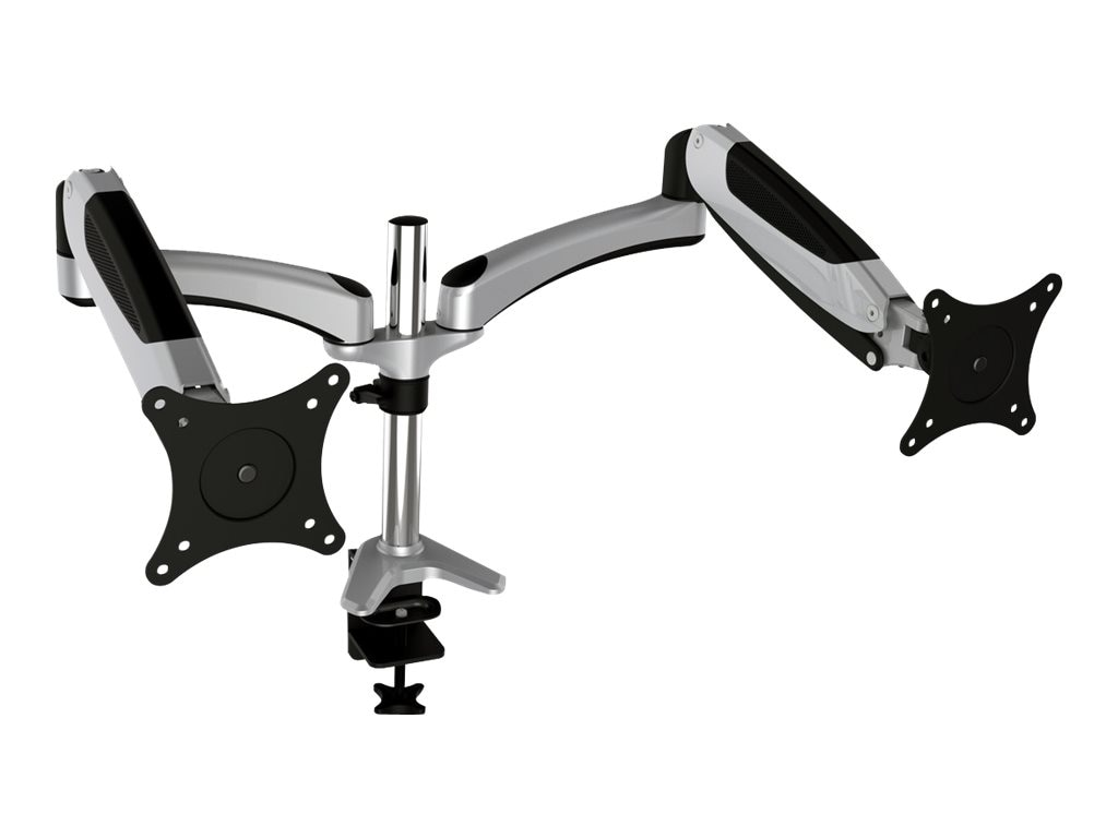V7 LX Dual Monitor Gas Spring Mount with Arm for Displays up to 30, DM3GSAD-1N