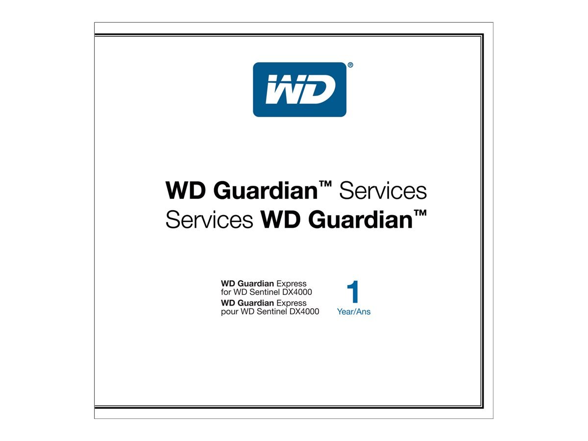WD Guardian Express  1 Yr Plan, WDBBBT0000NNC-NASN, 13524671, Services - Virtual - Hardware Warranty