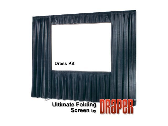 Draper Ultimate Folding Projection Screen with HD Legs, Flex. Matte White, 4:3, 10.5' x 14', 241033, 11847469, Projector Screens