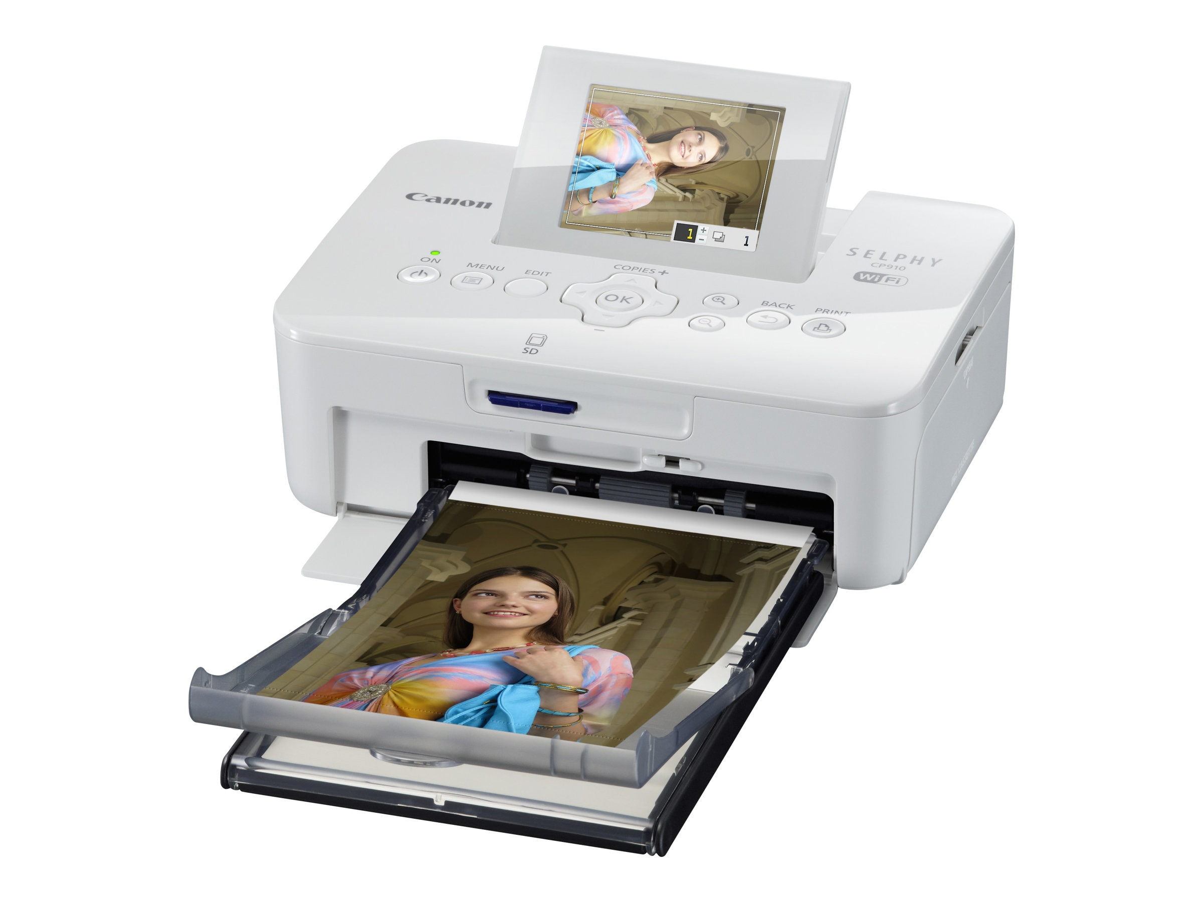 Canon SELPHY CP910 Compact Photo Printer - White, 8427B001, 16702517, Printers - Photo