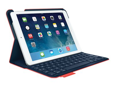 Logitech Ultrathin Keyboard Folio for iPad Air, Red, 920-006165, 31198654, Keyboards & Keypads