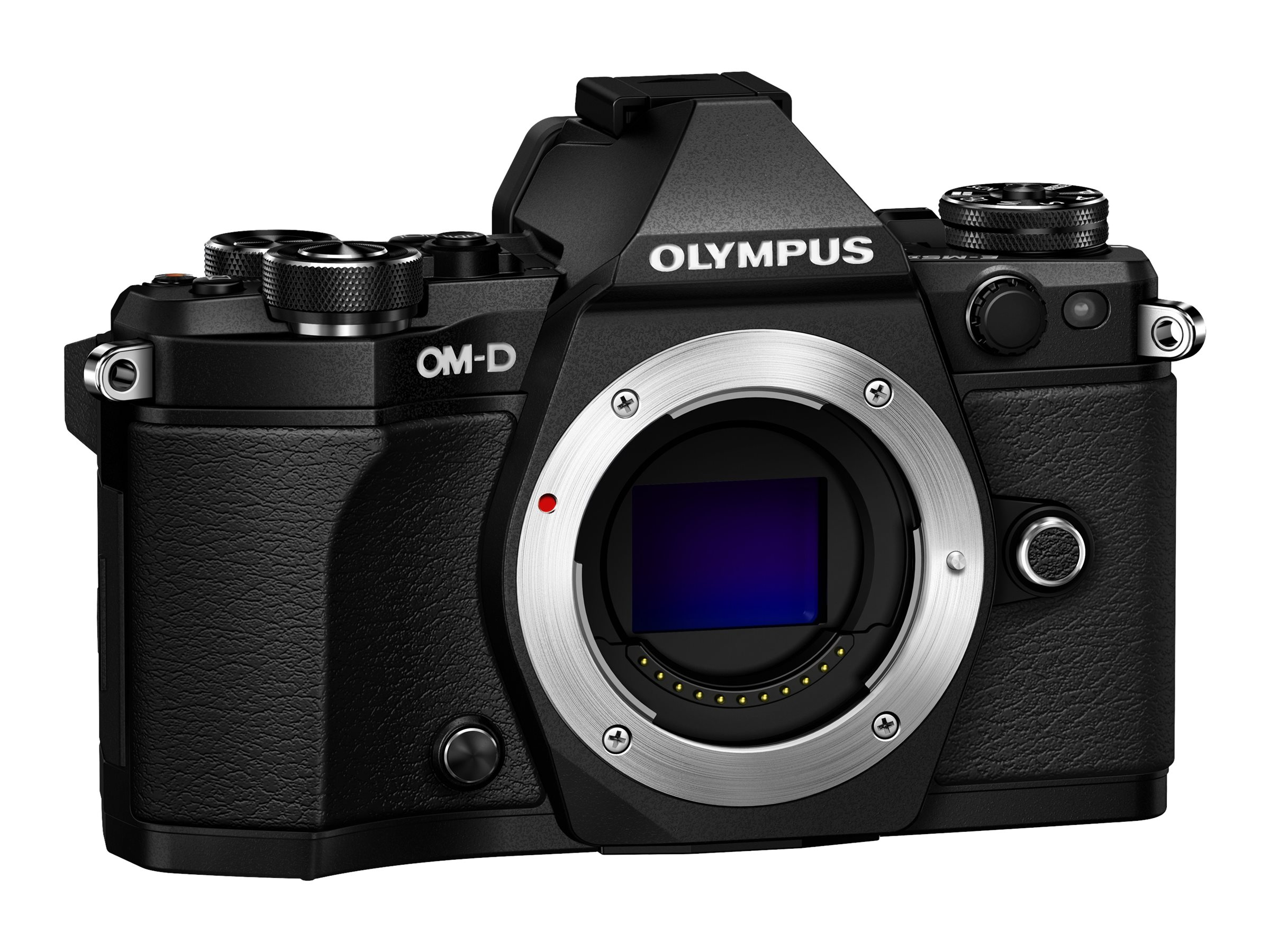 Olympus OM-D E-M5 Mark II Mirrorless Micro Four Thirds Digital Camera Pro Kit, Black, V207040BU030, 30643031, Cameras - Digital - SLR