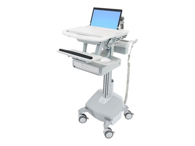 Ergotron StyleView Laptop Cart, LiFe Powered, 1 Drawer, SV44-1112-1, 18024781, Computer Carts - Medical
