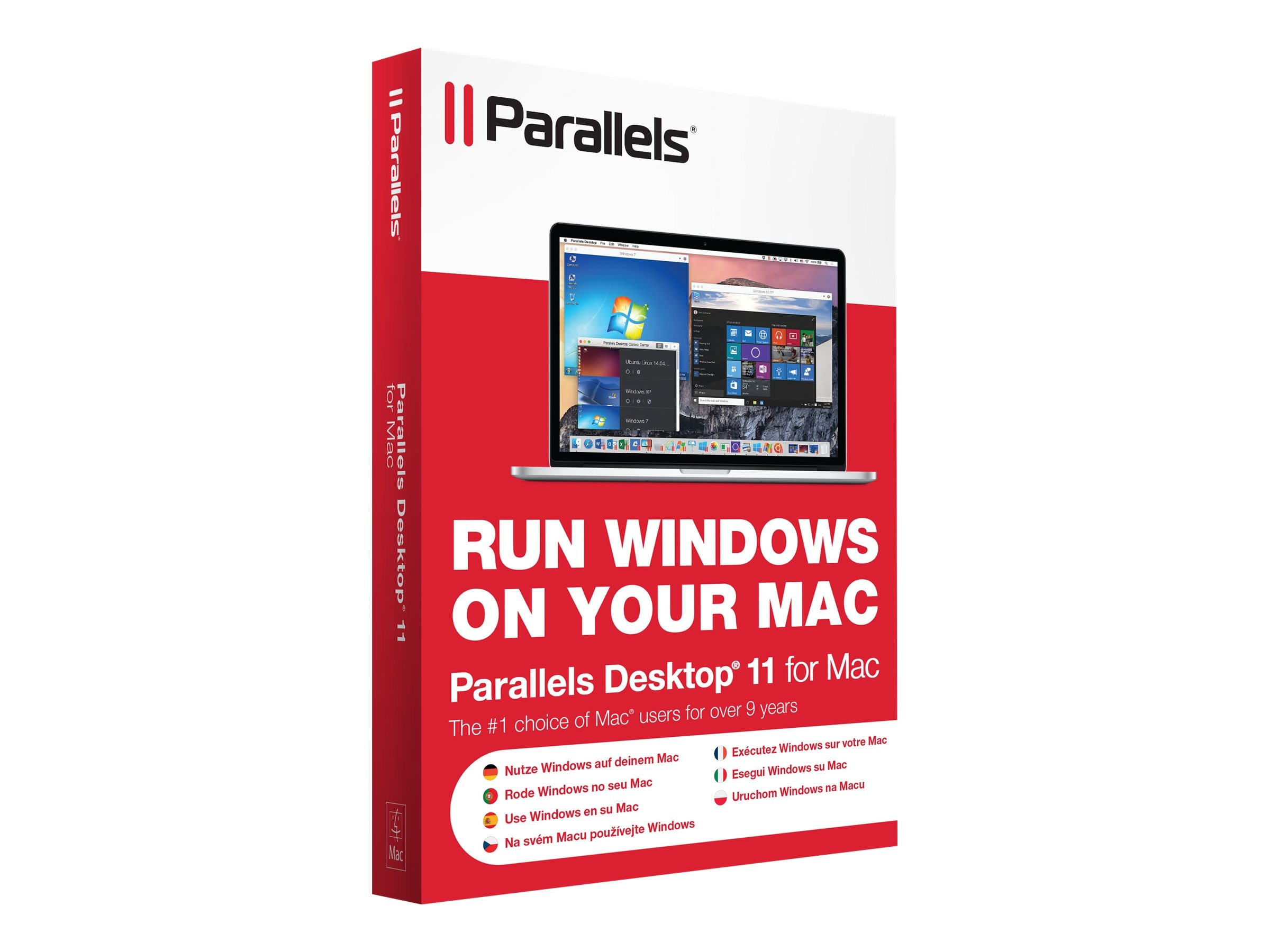 Parallels Corp. Parallels Desktop 11.0 for Mac Retail Box NA, PDFM11L-BX1-NA, 30607081, Software - Virtualization