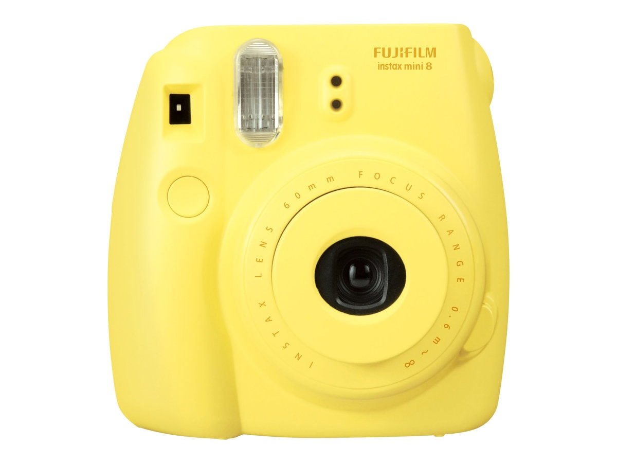 Fujifilm Instax Mini 8 Camera, Yellow, 16273441, 15682201, Cameras - Film