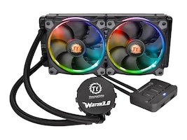 Thermaltake Water 3.0 Riing RGB 240 Liquid CPU Cooler, CL-W107-PL12SW-A, 31019978, Cooling Systems/Fans