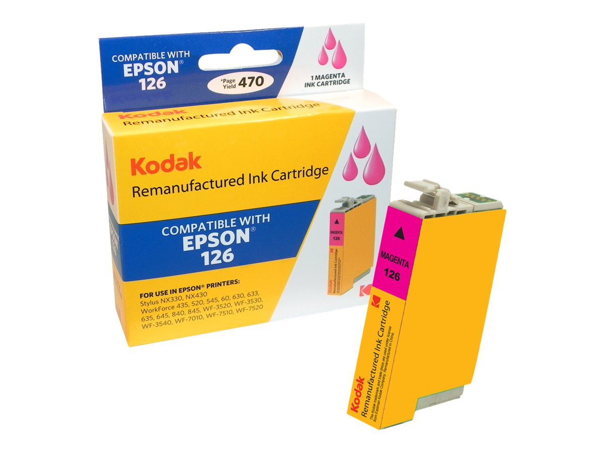 Kodak T126320 Magenta Ink Cartridge for Epson NX330 430, T126320-KD, 31286873, Ink Cartridges & Ink Refill Kits