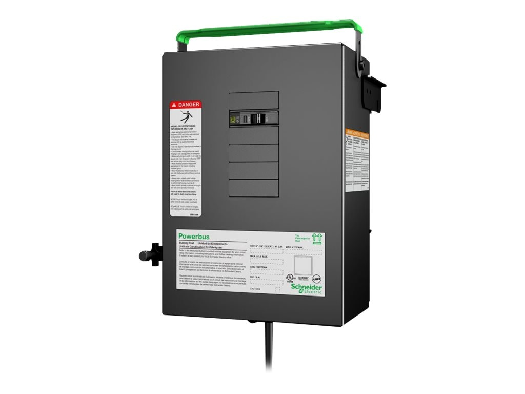 APC PB Busway Tap Off Unit, 1x1 Pole 3-wire 20A, Phase B, 1 Drop cord, 3ft, L5-30, 120V, PBP4A11L530BF, 17672719, Premise Wiring Equipment