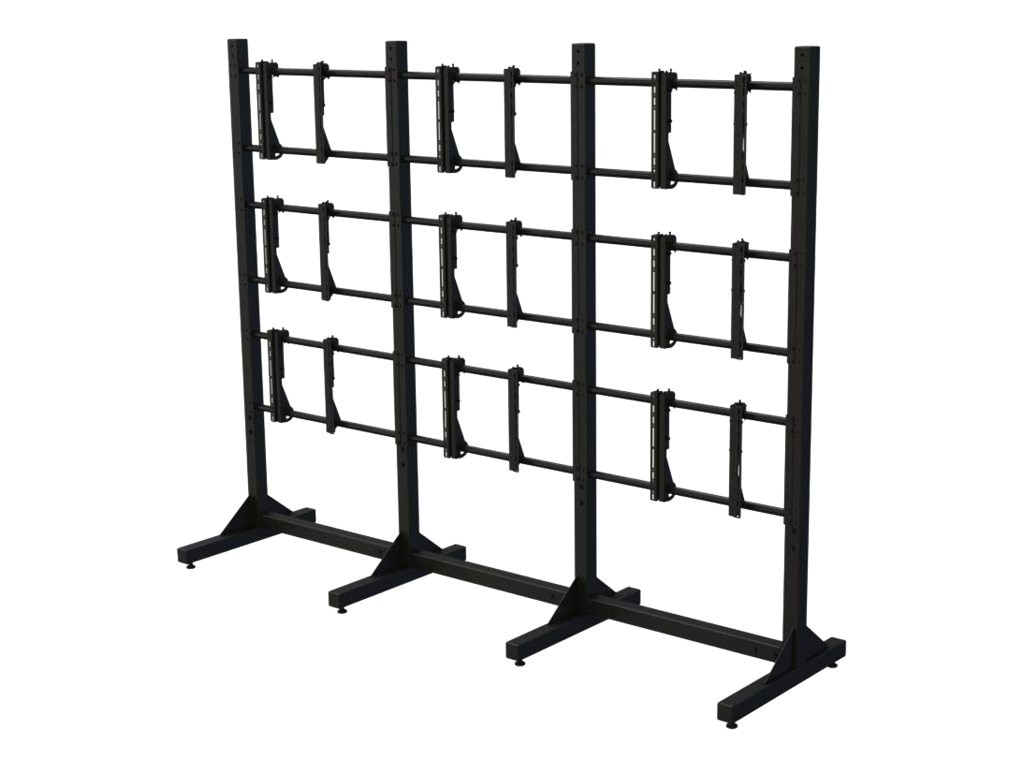Premier Mounts Modular Three-by-Three Video Wall Stand for 55 Displays, MVWS-3X3-55