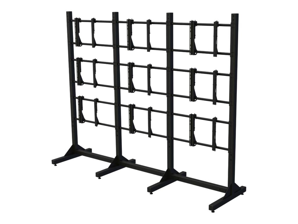 Premier Mounts Modular Three-by-Three Video Wall Stand for 55 Displays