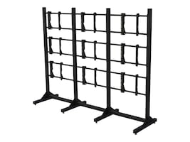 Premier Mounts Modular Three-by-Three Video Wall Stand for 55 Displays, MVWS-3X3-55, 30967992, Stands & Mounts - AV