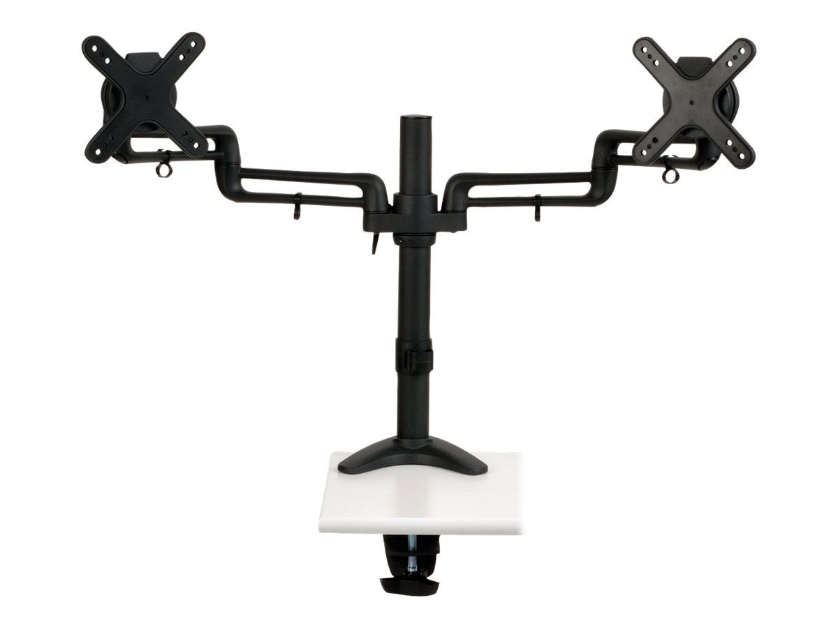 Tripp Lite Dual Full-Motion Flex Arm Desk Clamp for 13 to 27 Displays, Monitors, DDR1327SDFC, 17911169, Stands & Mounts - AV
