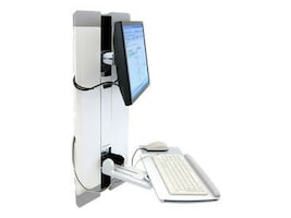 Ergotron StyleView Vertical Lift Mount for LCD and Keyboard, White, 60-609-216, 12023761, Wall Stations
