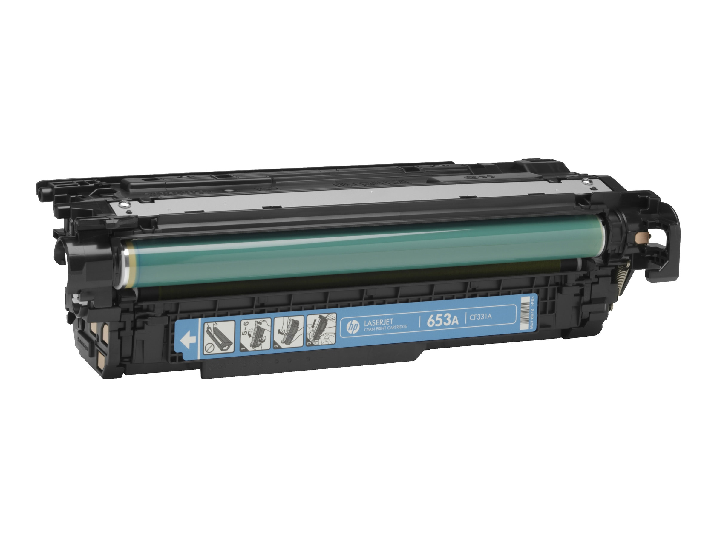 HP 654A (CF331A) Cyan Toner Cartridge, CF331A, 16850747, Toner and Imaging Components