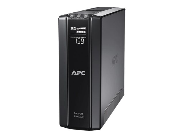 APC Power-Saving Back-UPS Pro 1500VA 865W 230V Intl C14 Input 6ft Cord (10) C13 Outlets, BR1500GI, 12054604, Battery Backup/UPS