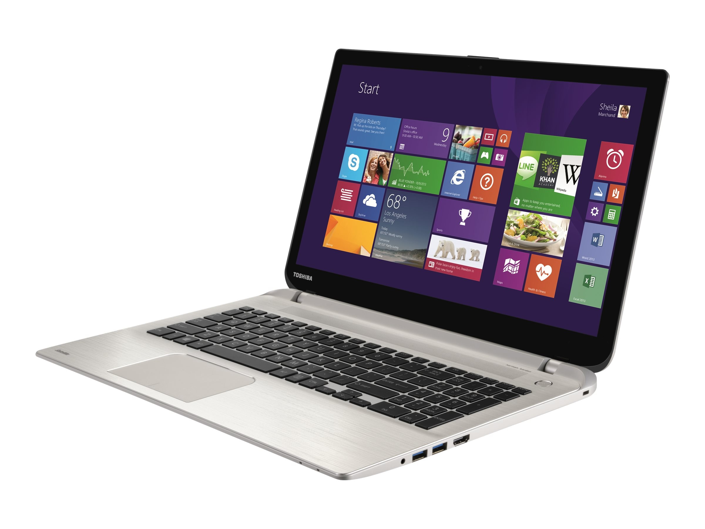 Toshiba Satellite S55T-C5168 Core i7 16GB 2TB 15.6 4K W10, PSPUGU-00700G, 31052655, Notebooks