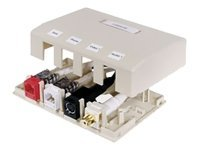 Hubbell ISM Series 4 Port Box Office White (ISM4OW), ISM4OW, 453632, Premise Wiring Equipment