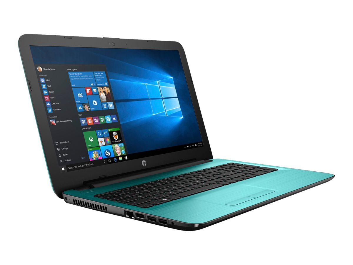 HP Notebook PC A8-7410 1TB 15.6 W10, Teal, X0H94UA#ABA