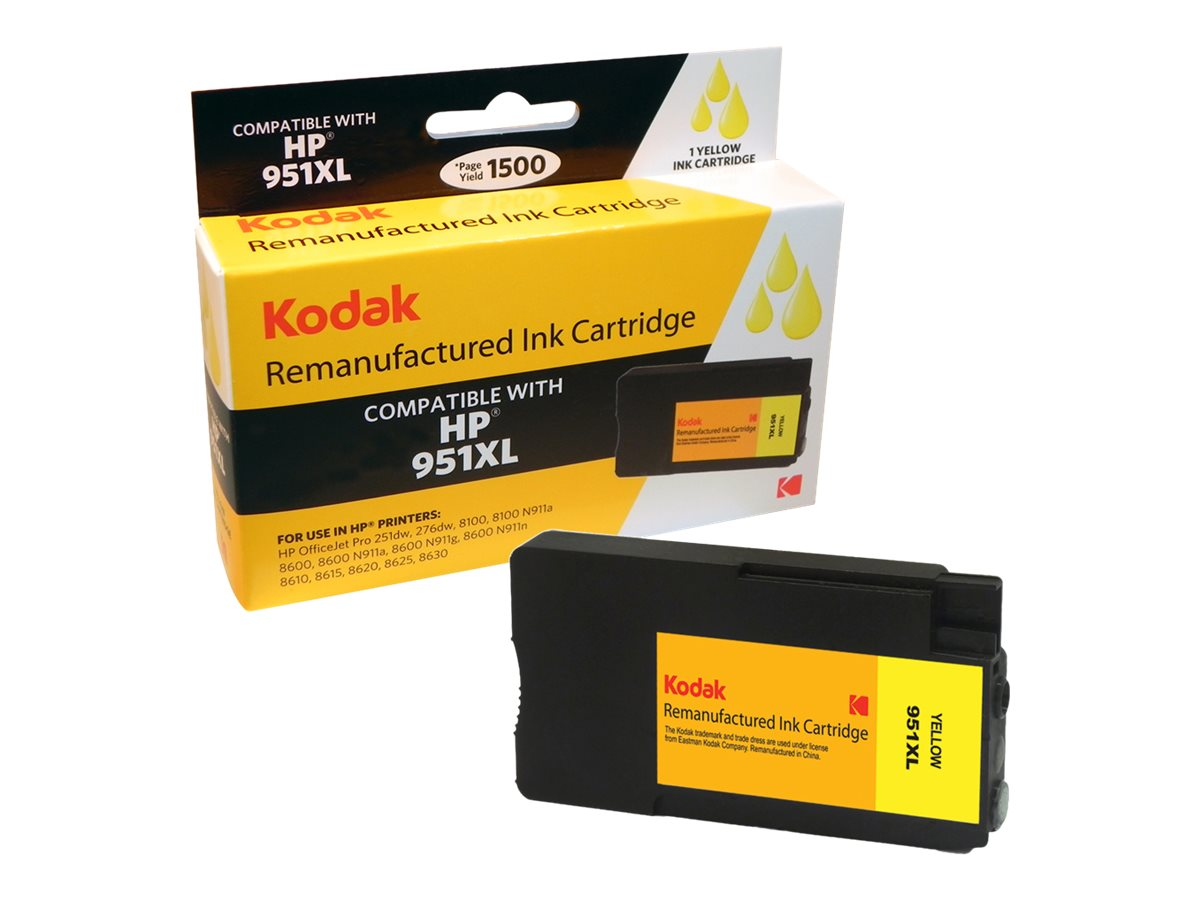 Kodak CN048AN Yellow Ink Cartridge for HP, CN048AN-KD