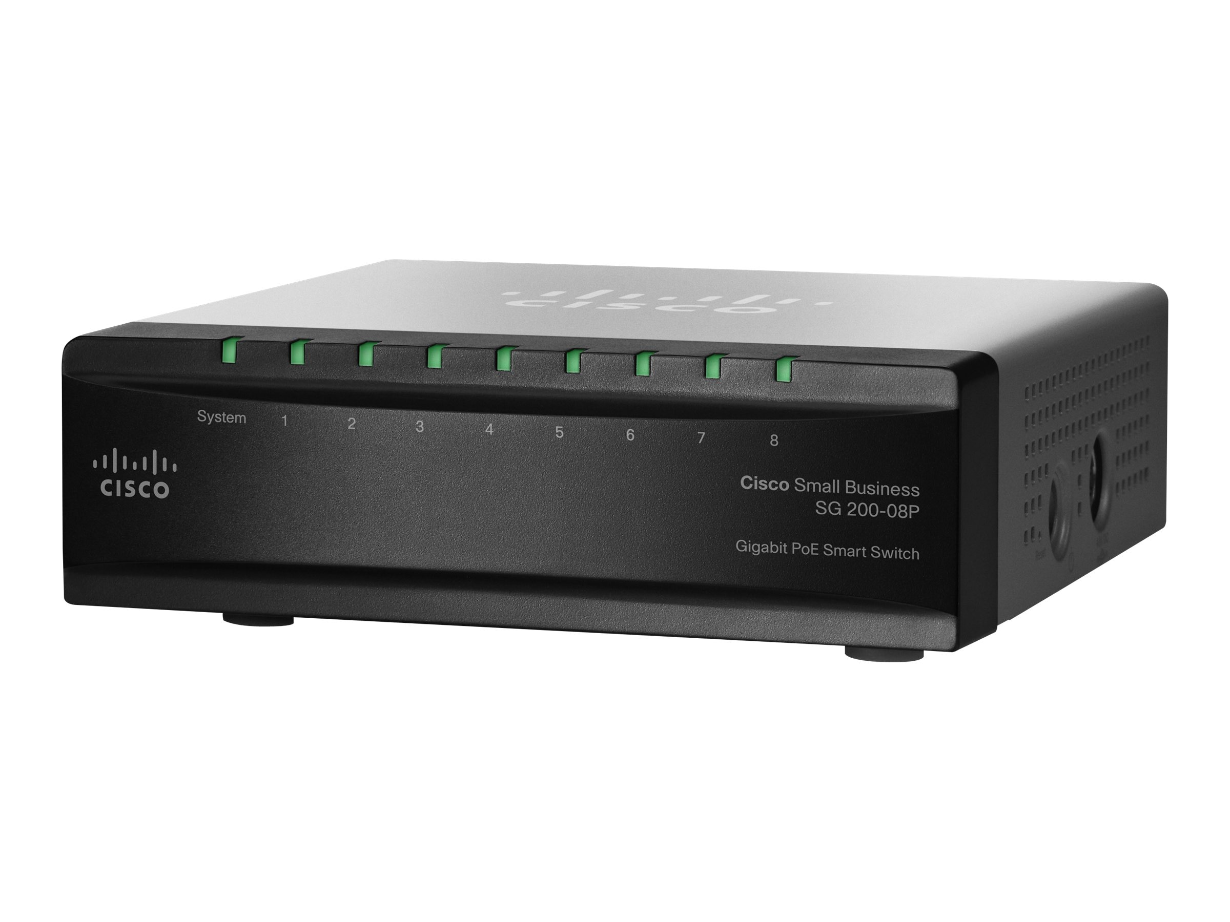 Cisco SG200-08P 8-Port Gigabit PoE Smart Switch (UK)