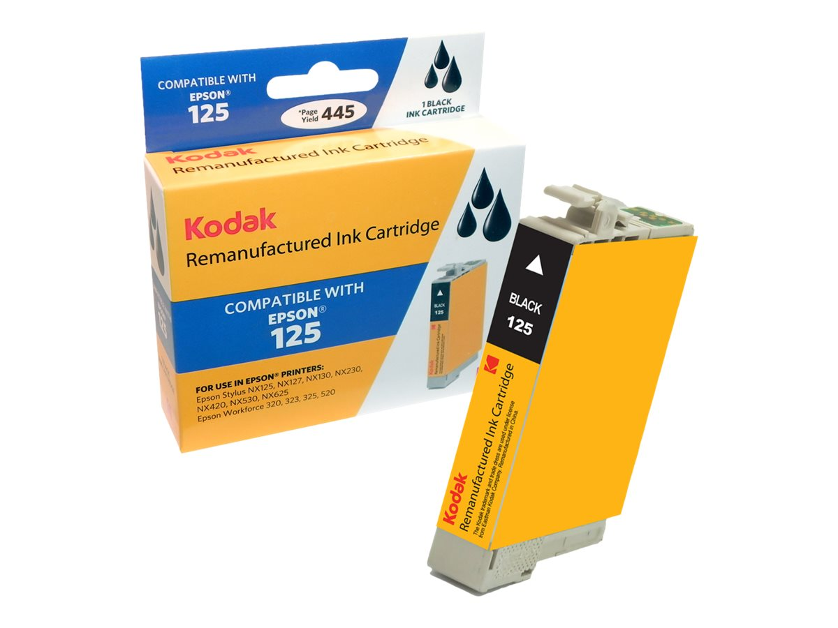 Kodak T125120 Black Ink Cartridge for Epson Stylus NX125, T125120-KD, 31286806, Ink Cartridges & Ink Refill Kits