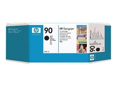 HP 90 Black Ink Cartridge for HP DesignJet 4000 Series Printer (400-ml), C5058A, 5718417, Ink Cartridges & Ink Refill Kits