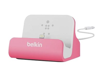 Belkin Mixit ChargeSync Dock for iPhone 5 6 6 Plus, Pink, F8J045BTPNK