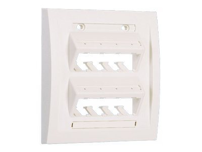 Panduit Double Gang, Vertical Ultimate ID Faceplate for Eight Mini-Com Modules, Off White, UICFPSE8IW-2G